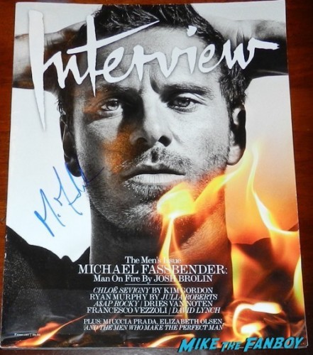 michael Fassbender signed interview magazine autograph