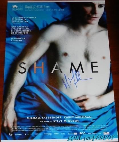 Michael fassbender signed shame poster