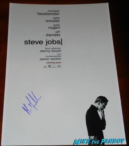 Michael fassbender signed steve jobs poster