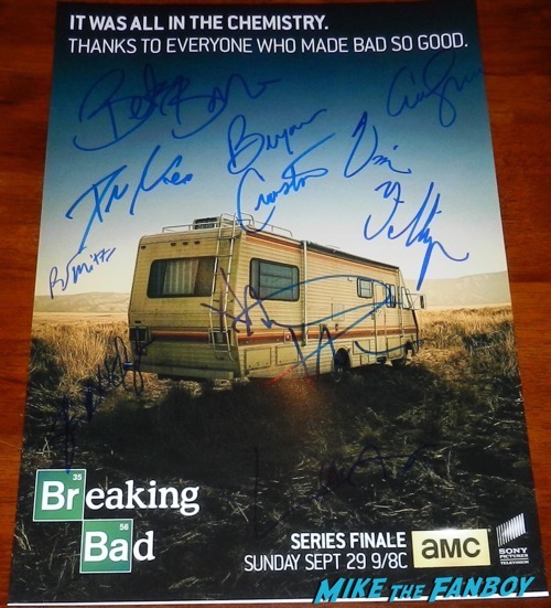 bryan cranston signed autograph breaking bad finale poster