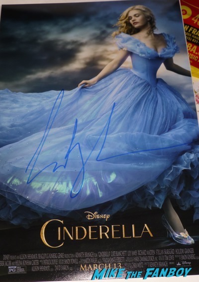 lily james signed autograph cinderella poster