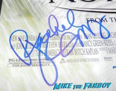Rachel McAdams Signed Autograph Notebook poster 5