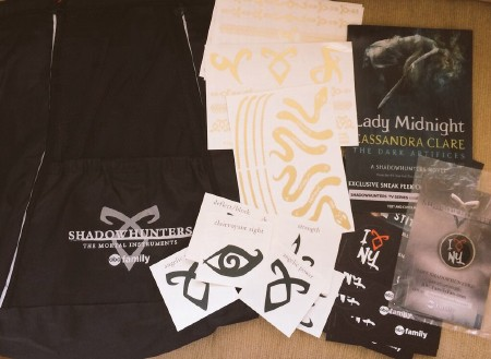 Shadowhunters swag giveaway