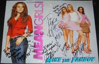 Rachel McAdams signed autograph mean girls poster