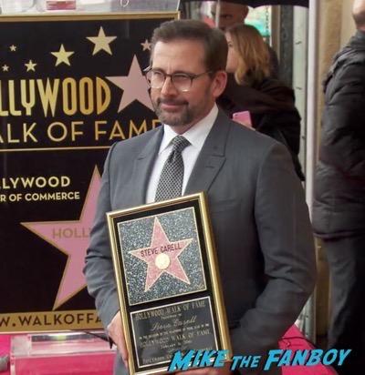 Steve Carell Walk of Fame star ceremony 5