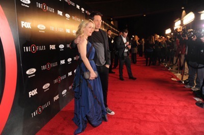 The X-Files premiere red carpet afterparty Gillian Anderson David Duchovny 17