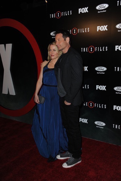 The X-Files premiere red carpet afterparty Gillian Anderson David Duchovny 4