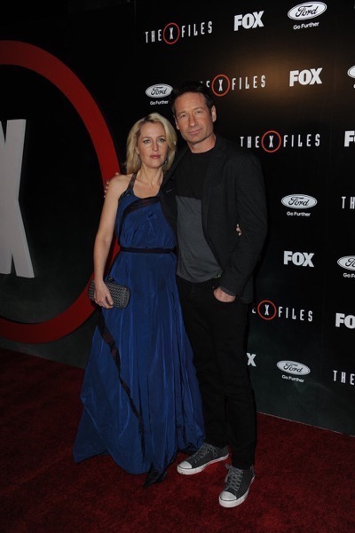 The X-Files premiere red carpet afterparty Gillian Anderson David Duchovny 5