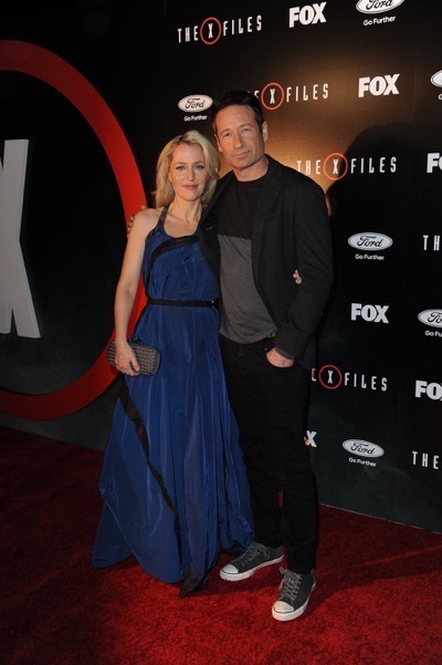 The X-Files premiere red carpet afterparty Gillian Anderson David Duchovny 6