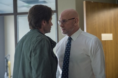 THE X-FILES:  L-R:  David Duchovny and Mitch Pileggi.  The next mind-bending chapter of THE X-FILES debuts with a special two-night event beginning Sunday, Jan. 24 (10:00-11:00 PM ET/7:00-8:00 PM PT), following the NFC CHAMPIONSHIP GAME, and continuing with its time period premiere on Monday, Jan. 25 (8:00-9:00 PM ET/PT).  ©2016 Fox Broadcasting Co.  Cr:  Ed Araquel/FOX