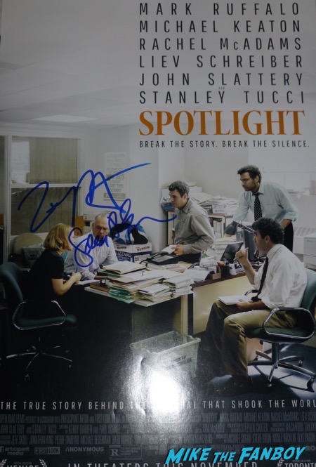 Sacha Pfeiffer tom Mccarthy signed spotlight poster signing autographs now 2016