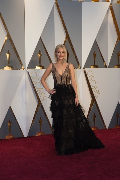 THE OSCARS(r) - ARRIVALS - The 88th Oscars, held on Sunday, February 28, at the Dolby Theatre(r) at Hollywood & Highland Center(r) in Hollywood, are televised live by the ABC Television Network at 7 p.m. EST/4 p.m. PST.  (ABC/Rick Rowell) JENNIFER LAWRENCE
