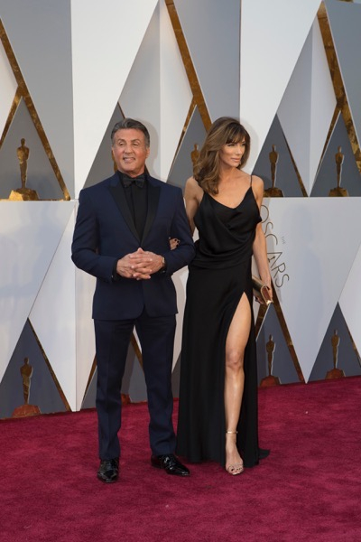 THE OSCARS(r) - ARRIVALS - The 88th Oscars, held on Sunday, February 28, at the Dolby Theatre(r) at Hollywood & Highland Center(r) in Hollywood, are televised live by the ABC Television Network at 7 p.m. EST/4 p.m. PST.  (ABC/Rick Rowell) SYLVESTER STALLONE, JENNIFER FLAVIN