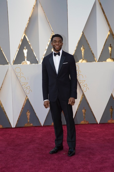 THE OSCARS(r) - ARRIVALS - The 88th Oscars, held on Sunday, February 28, at the Dolby Theatre(r) at Hollywood & Highland Center(r) in Hollywood, are televised live by the ABC Television Network at 7 p.m. EST/4 p.m. PST.  (ABC/Rick Rowell) CHADWICK BOSEMAN