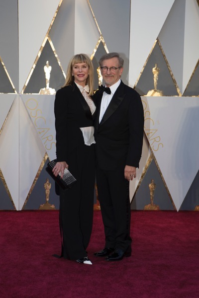 THE OSCARS(r) - ARRIVALS - The 88th Oscars, held on Sunday, February 28, at the Dolby Theatre(r) at Hollywood & Highland Center(r) in Hollywood, are televised live by the ABC Television Network at 7 p.m. EST/4 p.m. PST.  (ABC/Rick Rowell) CATE CAPSHAW, STEVEN SPEILBERG