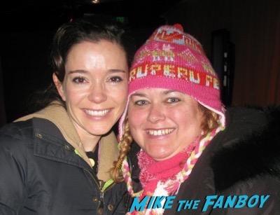 Marguerite Moreau fan photo signing autographs selfie
