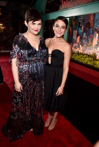 "HOLLYWOOD, CA - FEBRUARY 17:  Actresses Ginnifer Goodwin (L) and Jenny Slate attend the Los Angeles premiere of Walt Disney Animation Studios' ""Zootopia"" on February 17, 2016 in Hollywood, California.  (Photo by Alberto E. Rodriguez/Getty Images for Disney) *** Local Caption *** Jenny Slate; Ginnifer Goodwin"