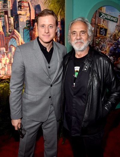 "HOLLYWOOD, CA - FEBRUARY 17:  Actors Alan Tudyk (L) and Tommy Chong attend the Los Angeles premiere of Walt Disney Animation Studios' ""Zootopia"" on February 17, 2016 in Hollywood, California.  (Photo by Alberto E. Rodriguez/Getty Images for Disney) *** Local Caption *** Alan Tudyk; Tommy Chong"