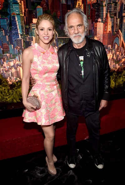 "HOLLYWOOD, CA - FEBRUARY 17:  Singer Shakira (L) and actor Tommy Chong attend the Los Angeles premiere of Walt Disney Animation Studios' ""Zootopia"" on February 17, 2016 in Hollywood, California.  (Photo by Alberto E. Rodriguez/Getty Images for Disney) *** Local Caption *** Shakira; Tommy Chong"
