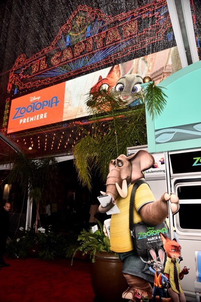 "HOLLYWOOD, CA - FEBRUARY 17:  General atmosphere at the Los Angeles premiere of Walt Disney Animation Studios' ""Zootopia"" on February 17, 2016 in Hollywood, California.  (Photo by Alberto E. Rodriguez/Getty Images for Disney)"