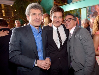 "HOLLYWOOD, CA - FEBRUARY 17:  (L-R) Chairman of Walt Disney Studios Alan Horn, actor Jason Bateman, and President of Marketing, Walt Disney Studios, Ricky Strauss attend the Los Angeles premiere of Walt Disney Animation Studios' ""Zootopia"" on February 17, 2016 in Hollywood, California.  (Photo by Charley Gallay/Getty Images for Disney) *** Local Caption *** Jason Bateman; Alan Horn; Ricky Strauss"