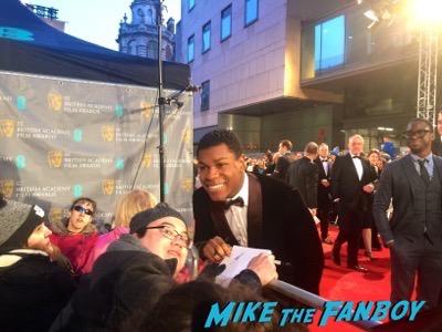 john boyega signing  autographs BAFTA Awards 2016 2
