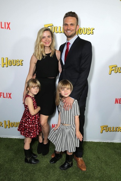 "Shia Bellatrix, Alison Raimondi, Saylor Callisto and John Brotherton seen at Netflix Premiere of ""Fuller House"" at The Grove - Pacific Theatres on Tuesday, February 16, 2016, in Los Angeles, CA. (Photo by Eric Charbonneau/Invision for Netflix/AP Images)"