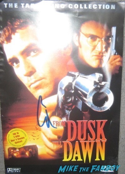 George Clooney signed autograph from dusk till dawn DVD Cover