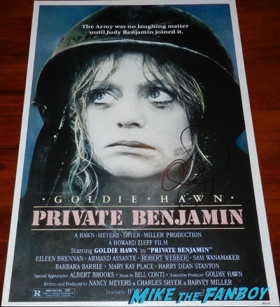 Goldie Hawn signed autograph private benjamin poster