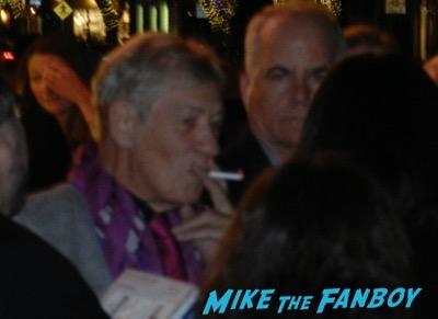 Ian McKellen signing autographs Mr Holmes q and a 3