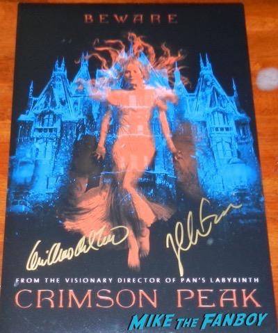 Guillermo del Toro signed autograph crimson peak poster