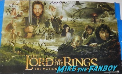 Ian McKellen signed autograph lord of the rings poster