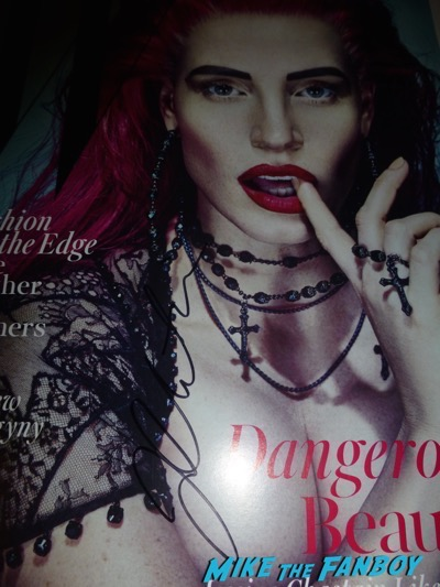 Jessica Chastain Signed Autograph W Magazine