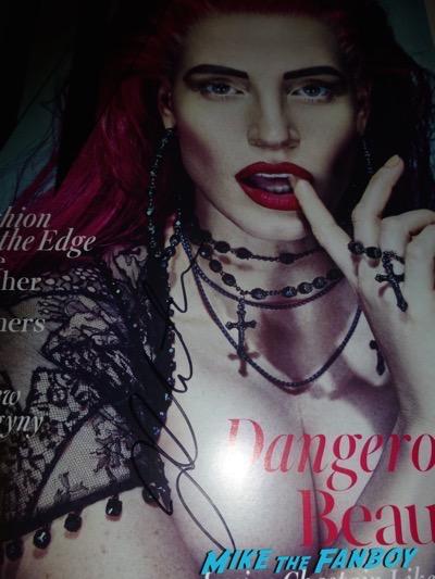 Jessica Chastain Signed Autograph W Magazine