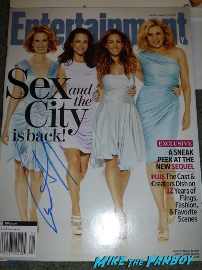 Cynthia Nixon Signed Autograph Entertainment Weekly cover