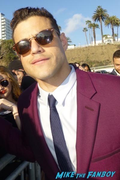 Rami Malek signing autographsFilm Independent Spirit Awards