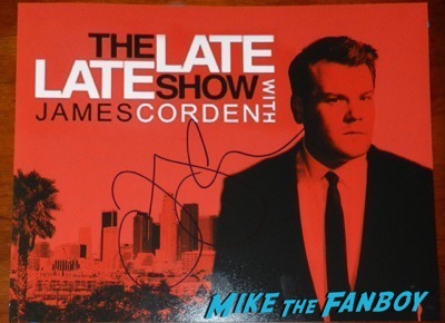 james cordon signed autograph late late show poster