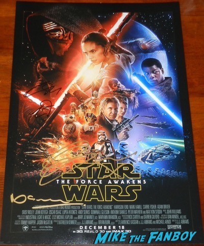 neil scanlan signed autograph star trek force awakens poster
