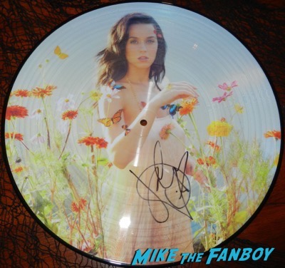 Katy Perry signed autograph prism picture disc psa