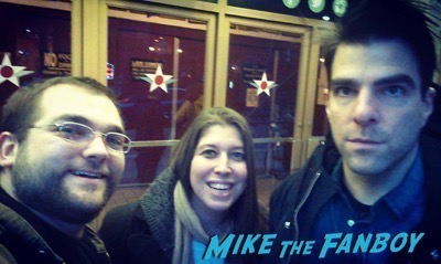 Zachary Quinto signing autographs Off broadway in New York 1