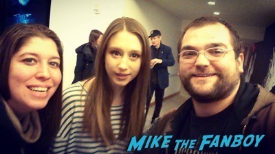 Taissa Farmiga signing autographs Off broadway in New York 3