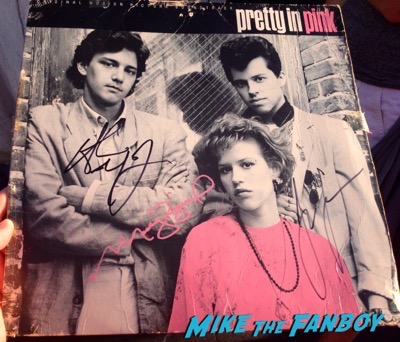 Pretty in pink signed autograph poster soundtrack molly ringwald andrew mccarthy 1