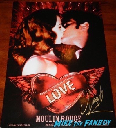 Nicole Kidman signed autograph moulin rouge love poster character