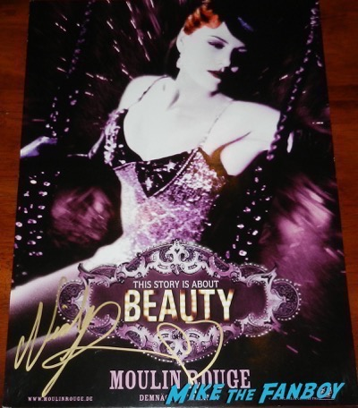 Nicole Kidman signed autograph moulin rouge beauty poster character