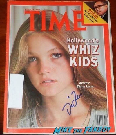 Diane Lane signed time magazine autograph