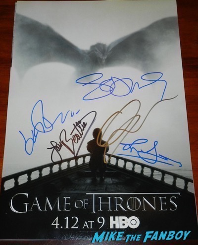 Gwendoline Christie signed autograph game of thrones poster sophie turner
