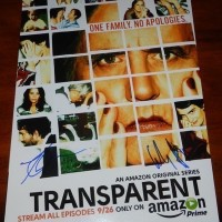 Transparent signed autograph poster
