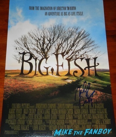 Billy Crudup signed autograph Big Fish poster