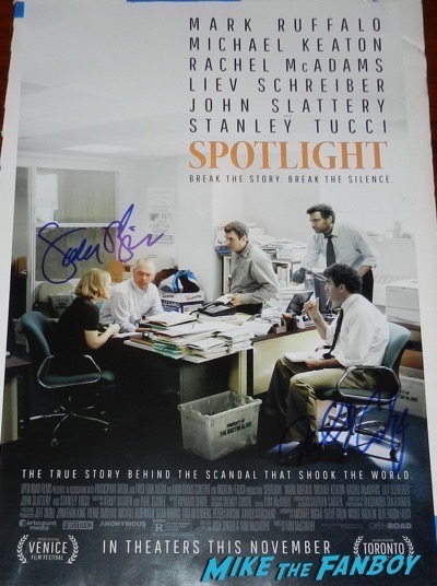 Billy Crudup signed autograph spotlight poster