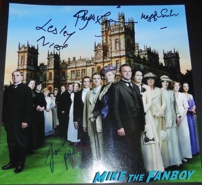 Downton Abbey signed autograph cast photo maggie smith